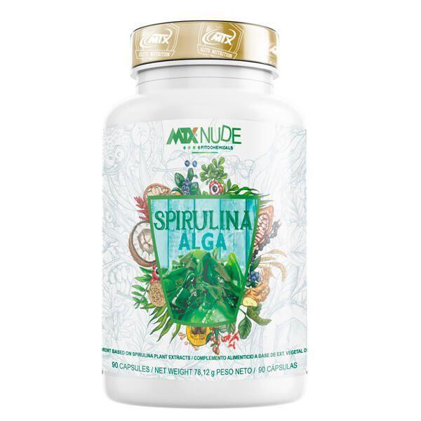 Espirulina envase de 90 cápsulas del fabricante MTX Nutrition