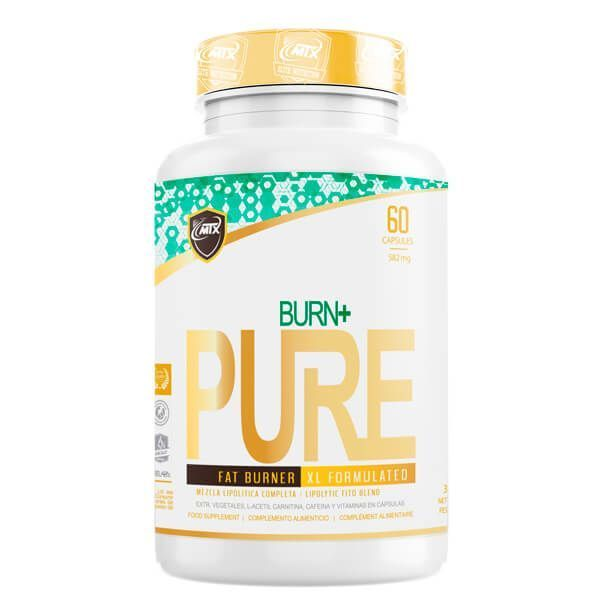 Burn+ envase de 60 cápsulas de MTX Nutrition (Quemadores)