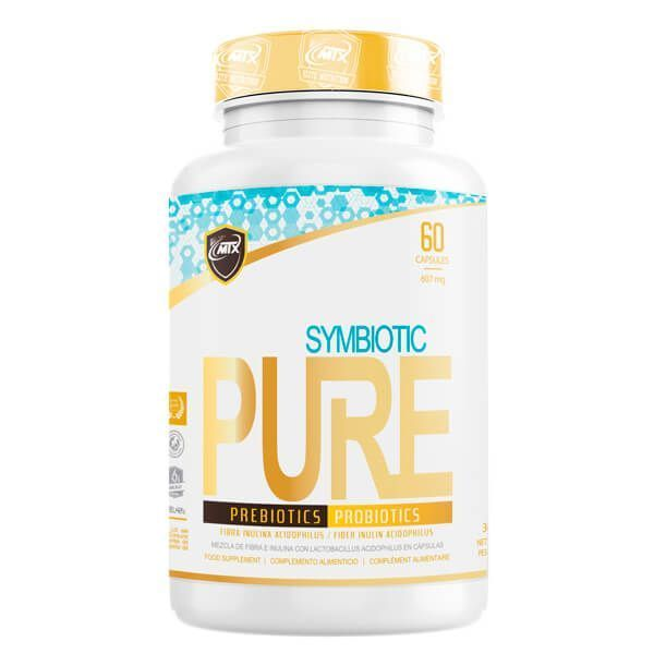 Symbiotic envase de 60 cápsulas del fabricante MTX Nutrition (Probioticos)