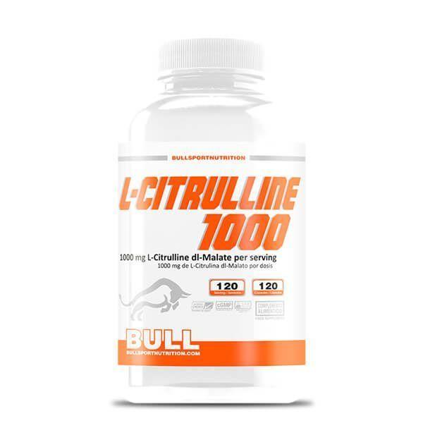 L-Citrulina 1000 de 120 cápsulas de la marca Bull Sport Nutrition (Otros Aminoácidos)