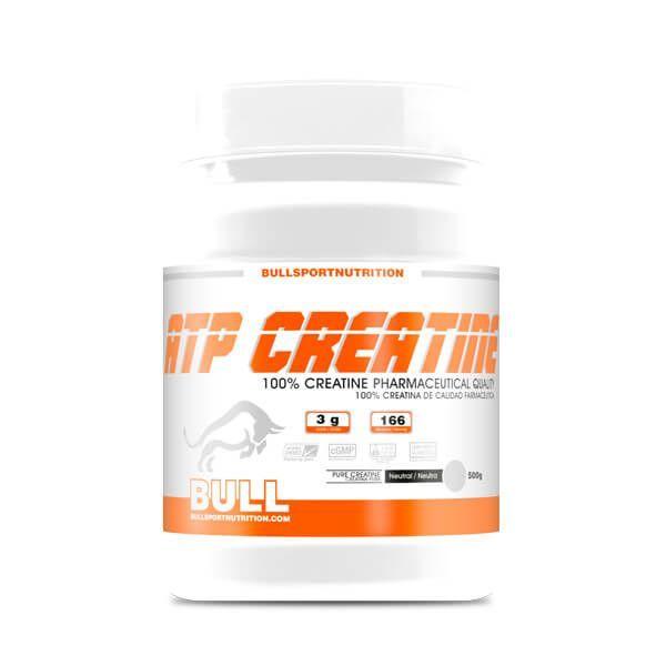 ATP Creatina envase de 500g de Bull Sport Nutrition (Creatina Monohidrato)