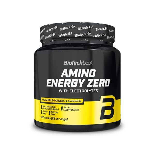 Amino Energy Zero con Electrolitos de 360g de Biotech USA (Esenciales e Hidrolizados)