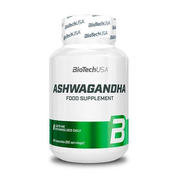 Ashwagandha envase de 60 cápsulas del fabricante Biotech USA (Vitaminas y Minerales)