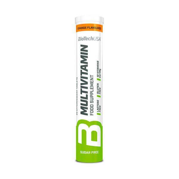 Multivitaminas de 20 tabletas effervescentes de la marca Biotech USA (Complejos Multivitaminicos)