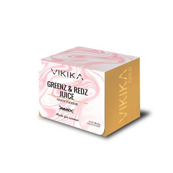 Greenz and Redz Juice de 180g de la marca Vikika Gold by Amix (Vitaminas y Minerales)