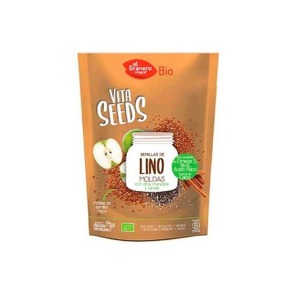 VitaSeeds Semillas de Lino Chía y Manzana de 200g del fabricante El Granero Integral (Cereales y Legumbres)