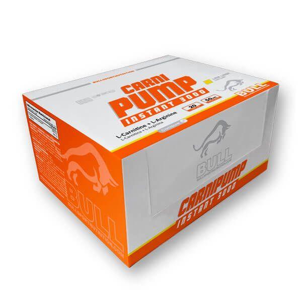 Carni Pump Instant 3000 de 20 viales de la marca Bull Sport Nutrition (L-Carnitina)