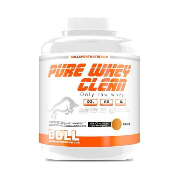 Pure Whey Clean envase de 2.3 kg de Bull Sport Nutrition (Proteina de Suero Whey)