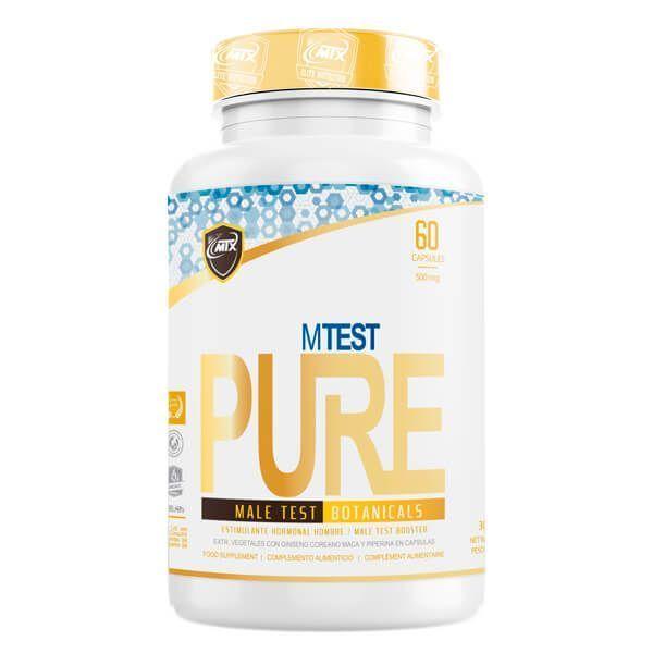 MTest envase de 60 cápsulas de la marca MTX Nutrition (Complejos Testosterona)
