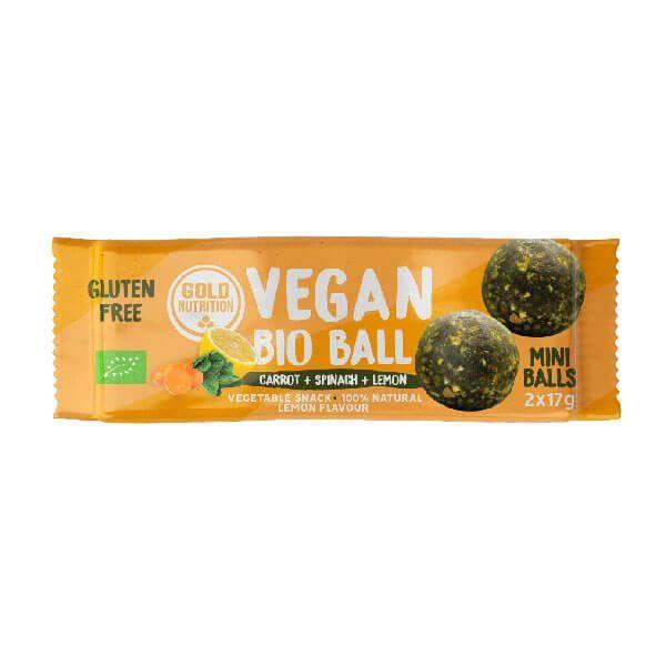Vegan Bio Ball envase de 2x17g de GoldNutrition (Dulces y galletas)