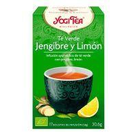 Té Verde Jengibre y Limón envase de 17 bolsitas de la marca Yogi Organic (Infusiones y tisanas)