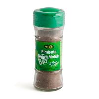 Tarro Pimienta negra molida Eco envase de 45 gr de Artemis BIO (Aderezos y Sazonadores bajos en Sodio)