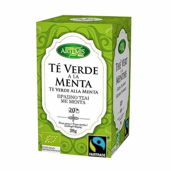 Te Verde a la Menta Eco envase de 20 sobres del fabricante Artemis BIO (Infusiones y tisanas)
