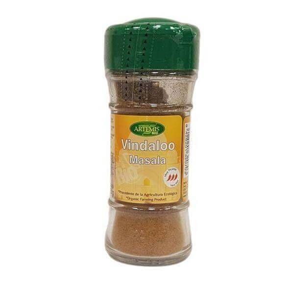Vindaloo Masala Bio envase de 28gr de Artemis BIO (Aderezos y Sazonadores bajos en Sodio)