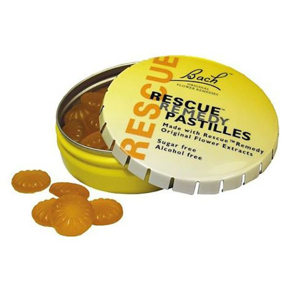Rescue Pastillas sabor Naranja-Sauco envase de 50gr del fabricante Bach (Anti-Estrés)