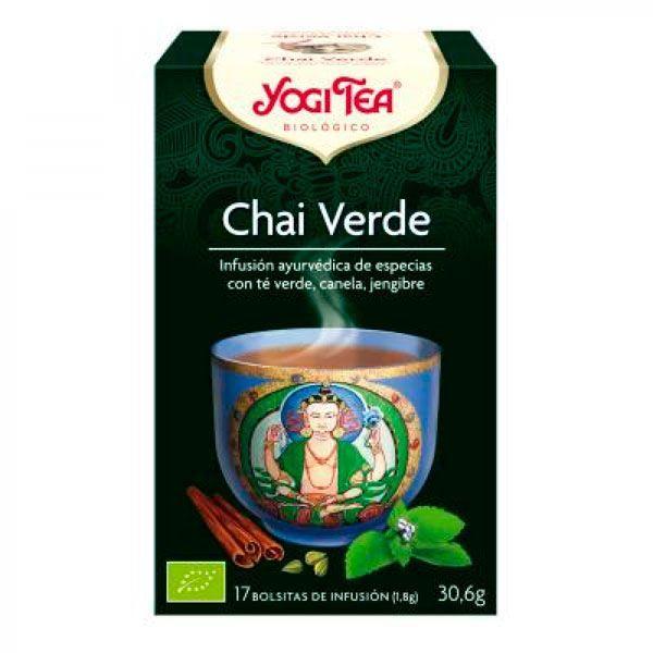 Té Chai Verde envase de 17 bolsitas del fabricante Yogi Organic (Infusiones y tisanas)