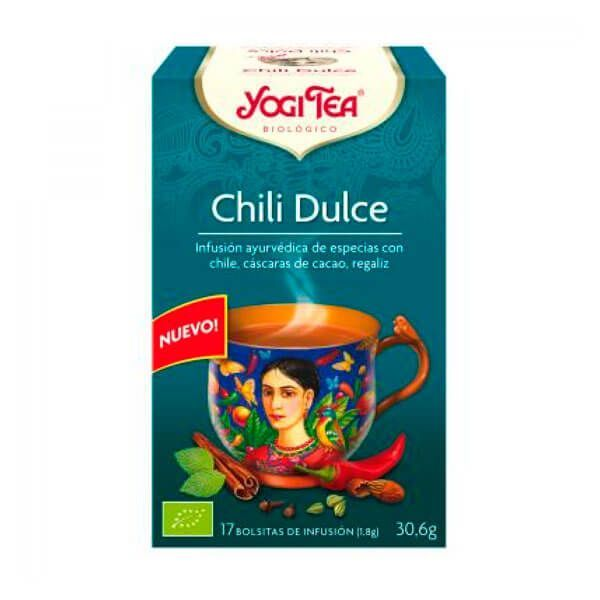 Té Chile Dulce de 17 bolsitas de la marca Yogi Organic (Infusiones y tisanas)