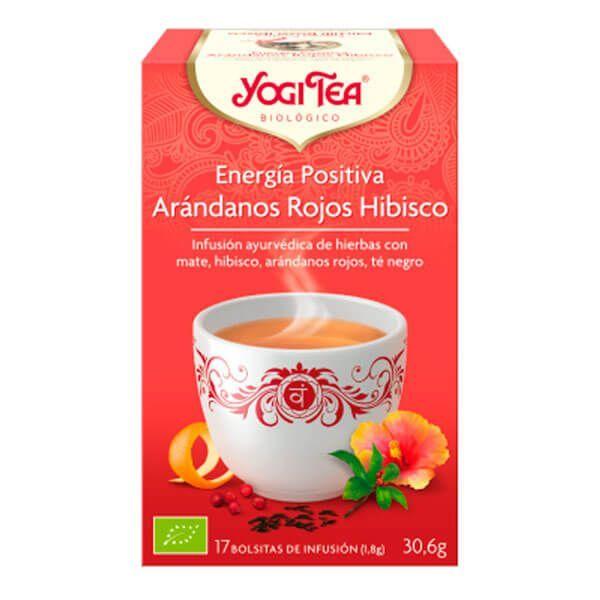 Energía Positiva Arándano Rojo Hibisco de 17 bolsitas del fabricante Yogi Organic (Infusiones y tisanas)