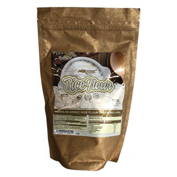 Harina de Arroz envase de 1 kg de la marca MTX Nutrition