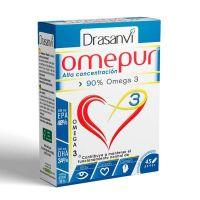Omepur3 de 45 perlas de la marca Drasanvi (Omega 3)