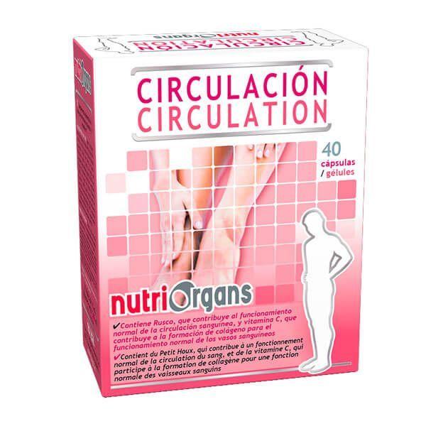 NutriOrgans Circulación envase de 40 cápsulas del fabricante Tongil (Sistema Circulatorio)