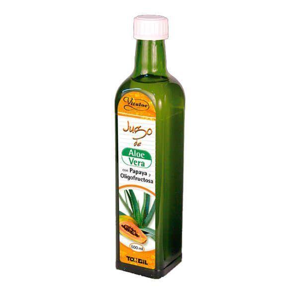 Vitaloe Jugo de Aloe Vera con Papaya y Oligofructosa envase de 500ml del fabricante Tongil (Digestivos)