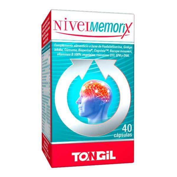 NivelMemorix envase de 40 cápsulas del fabricante Tongil (Concentración-Memoria)