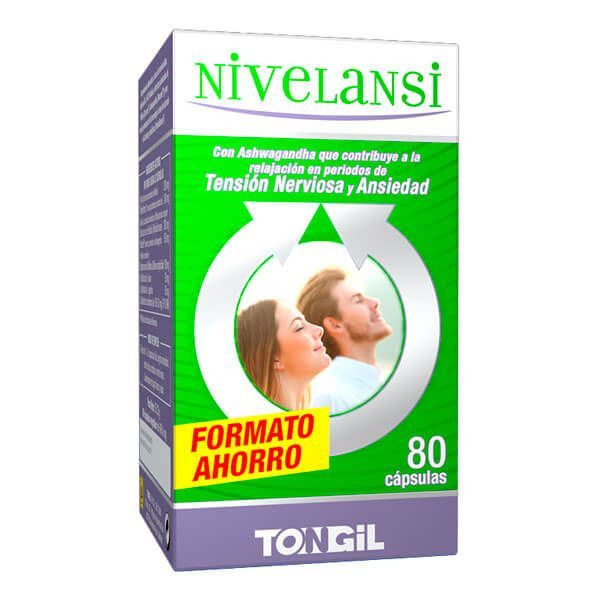 NivelAnsi envase de 80 cápsulas del fabricante Tongil (Anti-Estrés)
