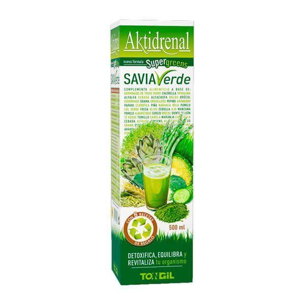 Aktidrenal Savia Verde de 500ml de Tongil (Protectores Hepáticos)