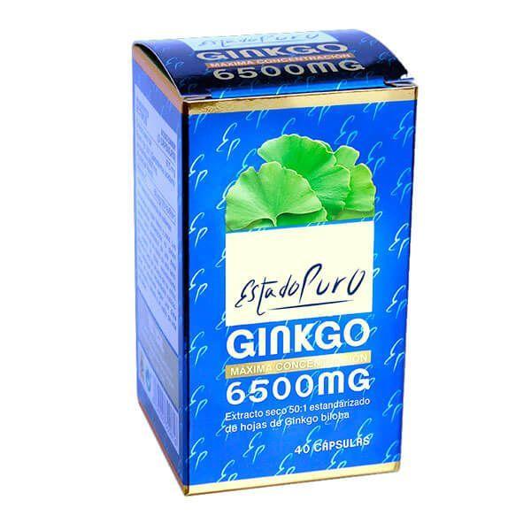 Estado Puro Ginkgo 6500mg de 40 cápsulas de Tongil (Sistema Circulatorio)