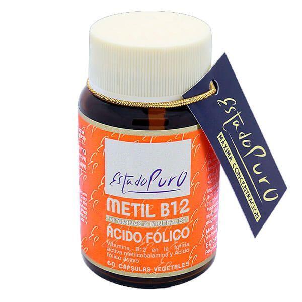 Estado Puro Metil B12 Ácido Fólico de 60 cápsulas de la marca Tongil (Vitamina B)