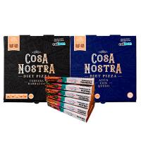 Pack 6 Bandejas de Hamburguesas + 2 Diet Pizza Cosa Nostra
