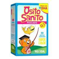 Osito Sanito Pescado Omega 3 envase de 50 gominolas de Tongil