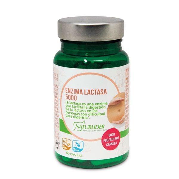 Enzima Lactasa 5000 Fcc envase de 60 cápsulas del fabricante NaturLíder (Digestivos)