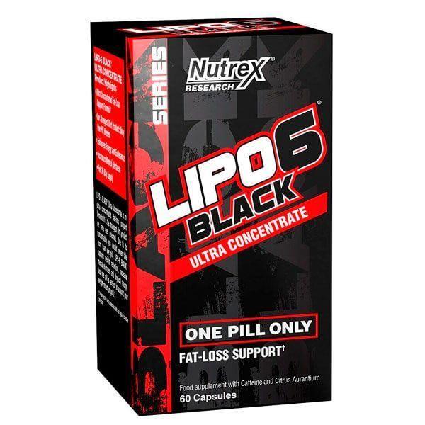 Lipo - 6 Black Ultra Concentrated - 60 capsulas Nutrex - 1