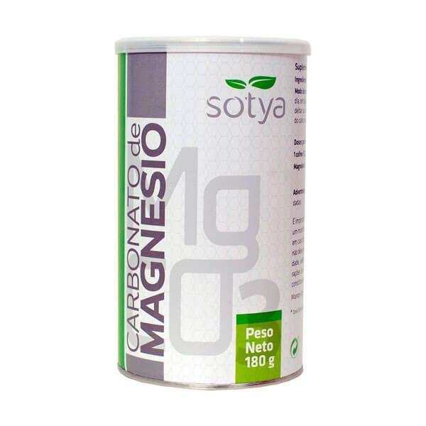 Carbonato de Magnesio envase de 180g del fabricante Sotya Health Supplements