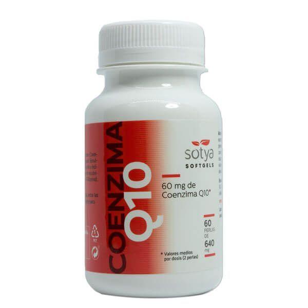 Coenzima Q10 de 60 softgels de la marca Sotya Health Supplements (Antioxidantes)