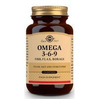 Omega 3-6-9 de pescado, lino y borraja de Solgar (Fuente Vegetal)