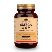 Omega 3-6-9 de pescado, lino y borraja de Solgar (Aceite de Pescado)