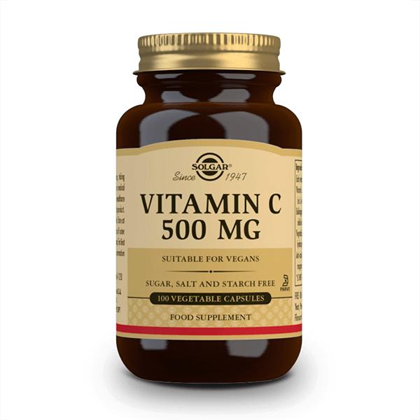 Vitamina C 500mg de 100 cápsulas vegetales de Solgar