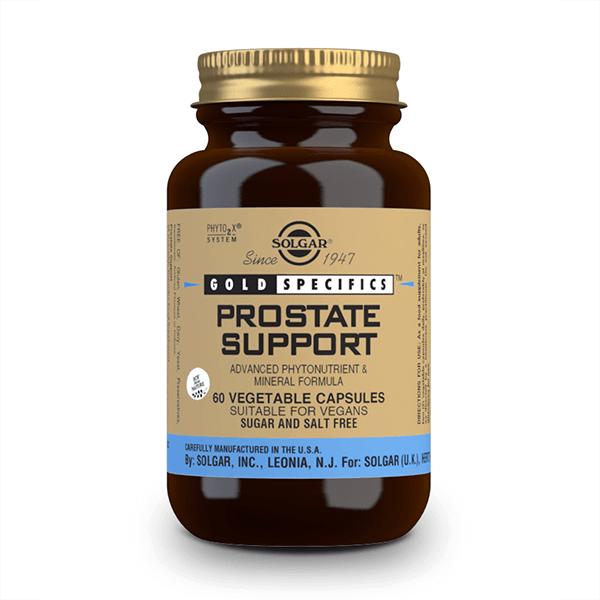 Gold Specifics Prostate Support envase de 60 cápsulas vegetales de Solgar (Prostata)