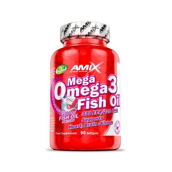 Mega Omega 3 Fish Oil de 90 softgels de Amix Nutrition