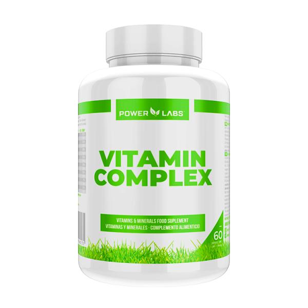 Vitamin Complex envase de 60 cápsulas de Power Labs (Complejos Multivitaminicos)