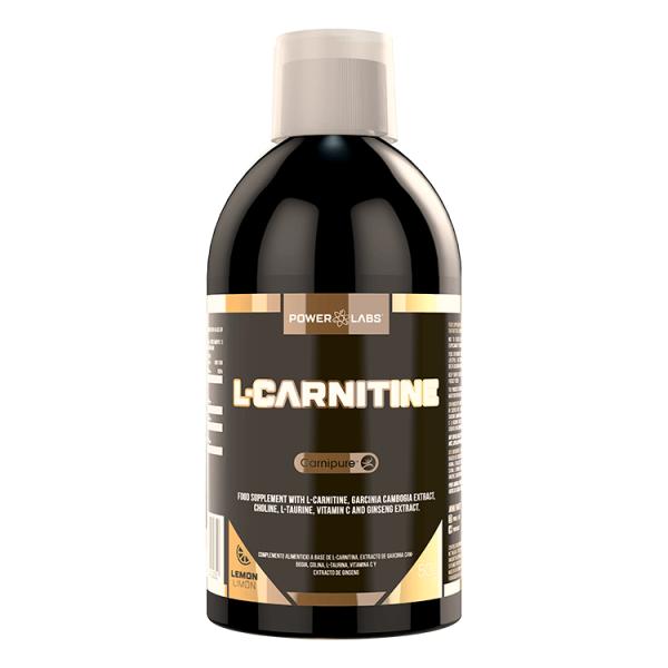 L-Carnitina envase de 500ml de la marca Power Labs
