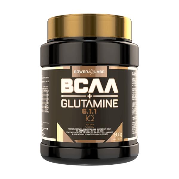 BCAA 6.1.1 + Glutamina de 500g de la marca Power Labs (BCAA + Glutamina)