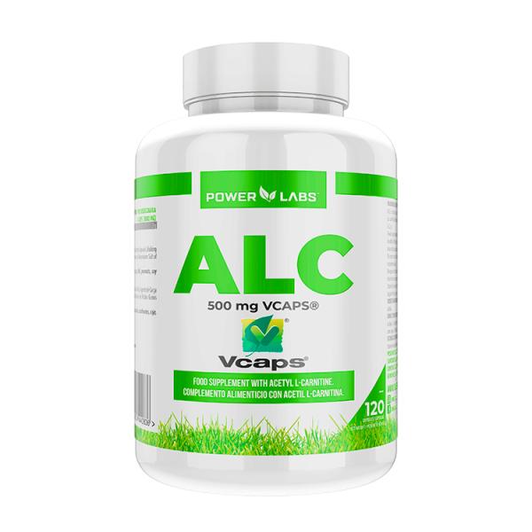 ALC 500mg envase de 120 cápsulas vegetales de Power Labs (L-Carnitina)