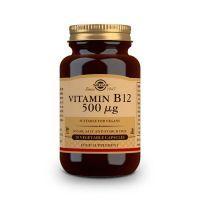 Vitamina B12 500 μg de cianocobalamina de la marca Solgar