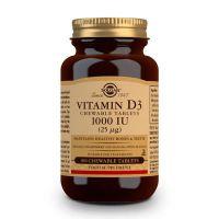 Vitamina D3 1000 UI 25μg de colecalciferol de Solgar