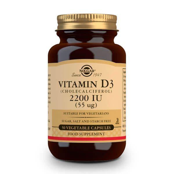 Vitamina D3 2200 UI de 55 μg del fabricante Solgar