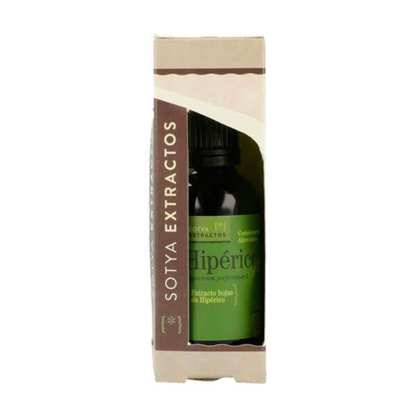Hipérico envase de 50ml de la marca Sotya Health Supplements (Anti-Estrés)